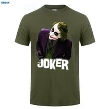 купить GILDAN  New Fitted T Shirts Men'S Short Sleeve Premium O-Neck Le Joker  Superhero Jocker Dark Knight Tee Shirts по цене 911.19 рублей