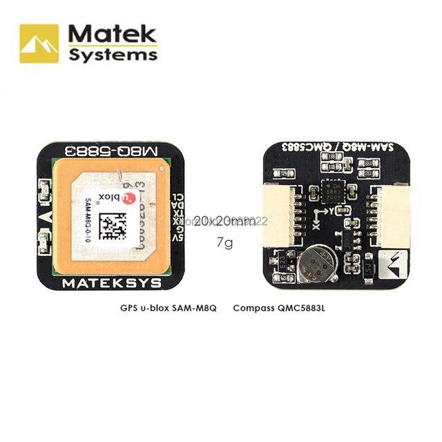Matek systèmes originaux Ublox M8Q 5883 GPS et QMC5883L, avec Module de boussole pour Drone de course FPV, longue portée