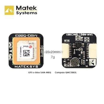 Оригинальные системы matek, GPS и QMC5883L, с компасом, модулем для гоночных дронов FPV, Ublox, M8Q-5883