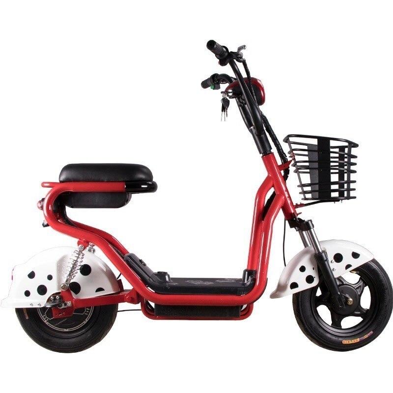 Nouvelle moto électrique Scooter deux roues vélo électrique 14 pouces 350 W 48 V vélo électrique pour adultes