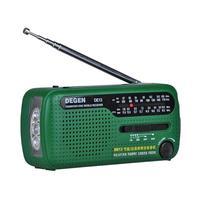 DE13 FM Radio FM MW SW Crank Dynamo Solar Emergency Radio World Receiver