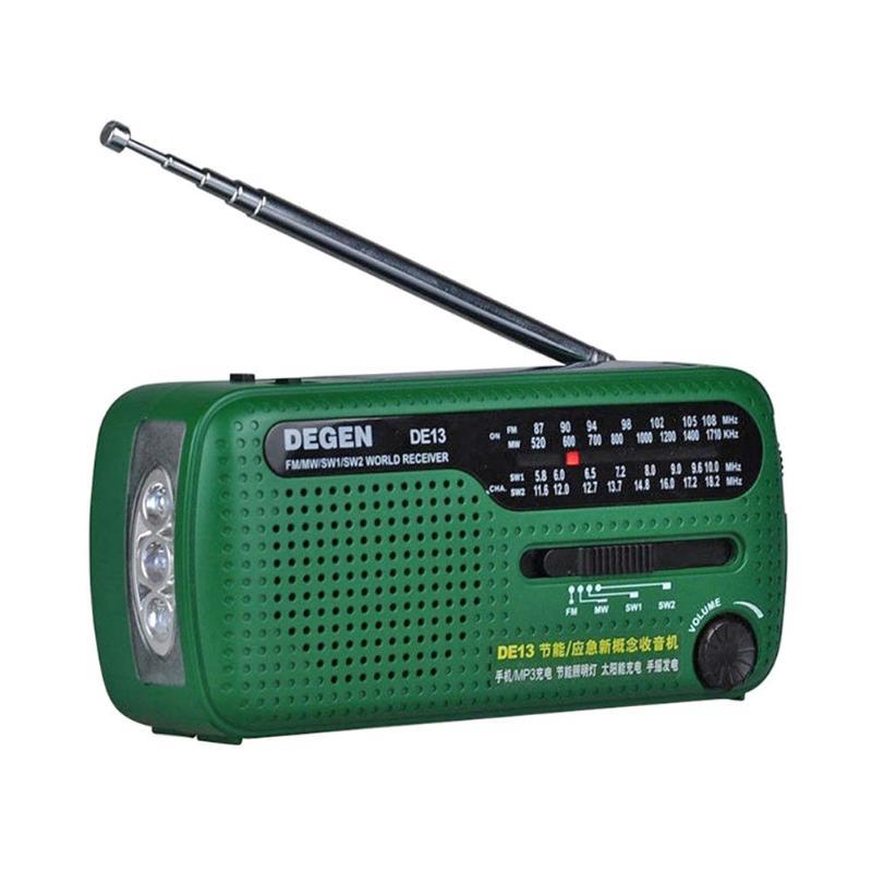 DE13 FM Radio FM MW SW Dynamo Solaire de Secours Radio récepteur mondial
