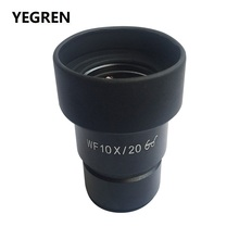 WF10X Eyepiece for Stereo Microscope Wide Field 20mm Rubber Eye Cups with or without Reticel Scale WF10X/20 High Eye-point pair wf10x 20 eyepieces 30mm with one pair eyeguard for stereo microscope