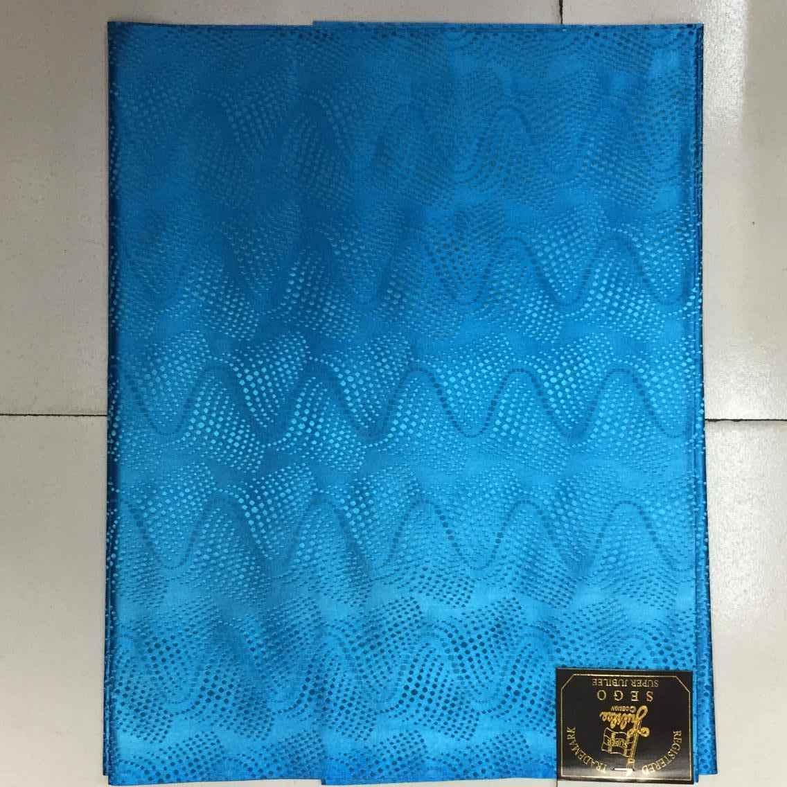 קידום מחיר באיכות גבוהה מלכותי כחול פרחוני ניגריה סגו Headtie לאישה. זול אפריקאי GELE ראש צעיף לנשים 2 יח'\שקית