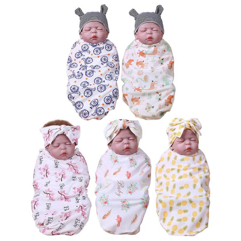 Mother & Kids Blanket & Swaddling Cartoon Baby Infancy Cotton Sleeping Print Pattern Mat Hat Wrap Swaddle Blanket Bath Towel Envelope For Newborns Mattress With The Best Service