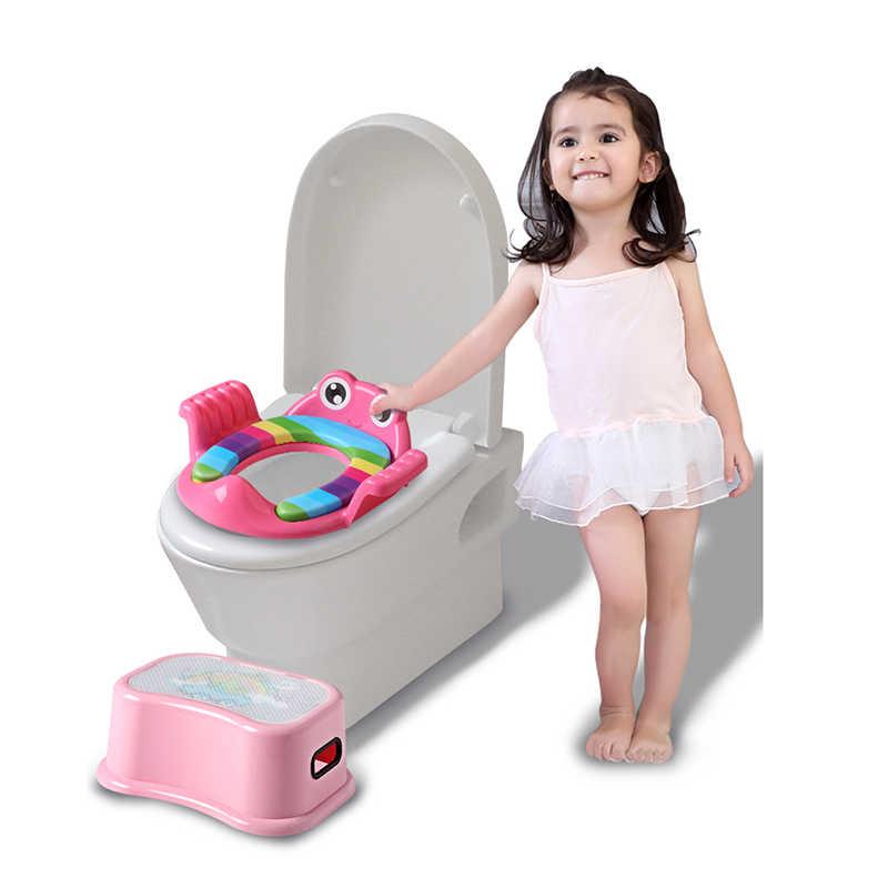 子供便座トイレトイレトレーニング漫画援助ベビーシートワッシャー男性と女性ベビーシートリングピンク