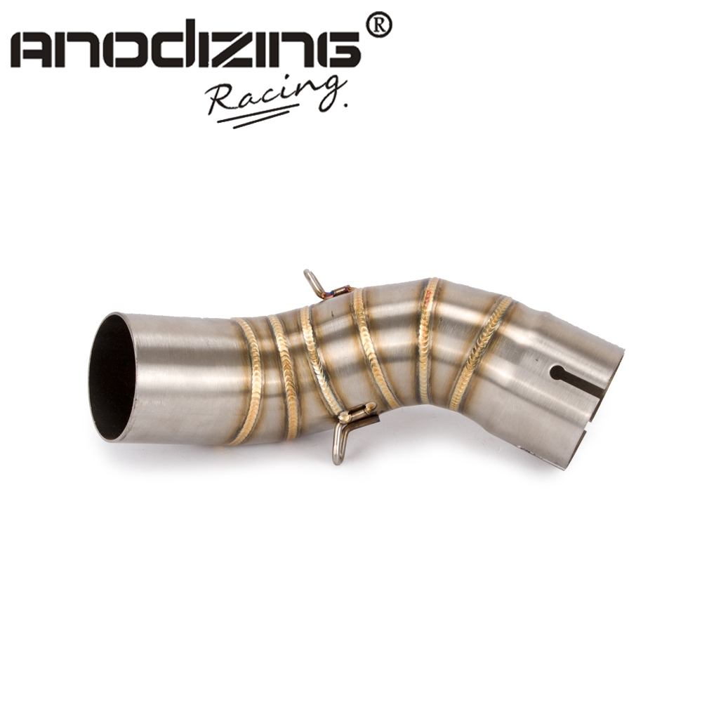 Link-Pipe Exhaust-Muffler Motorcycle-Middle-Pipe Z900 Kawasaki Slip Section for Z900/Z-900-17-18/Without