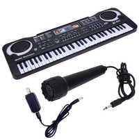61 teclas de música Digital teclado electrónico teclado eléctrico niños regalo, enchufe de EE. UU.