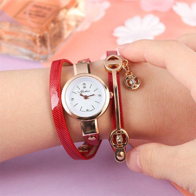 Stylish Lady Bracelet Watches Quartz Timepiece Leather Inlace Bangle Wristband Casual Elegant Watch for Women reloj femenino Bracelet Watches
