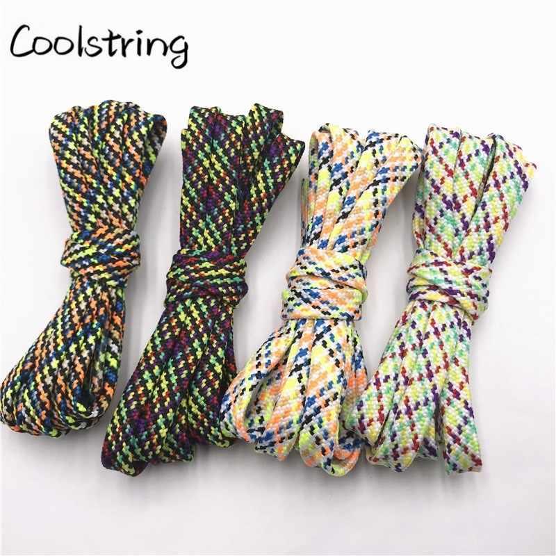 Coolstring Classic New 7mm Duplo Oco Woven Lacets Mulheres Botas Cadarço Cadarços de Tênis Unissex Casuais Cordones Zapatilla