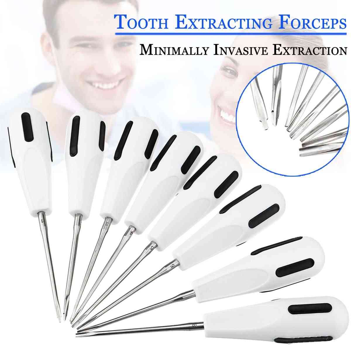 8Pcs/Set Stainless Steel Dental Luxating Lift Elevator Curved Root Elevator Dentistry Dentist Instrument Teeth Whitening Tool