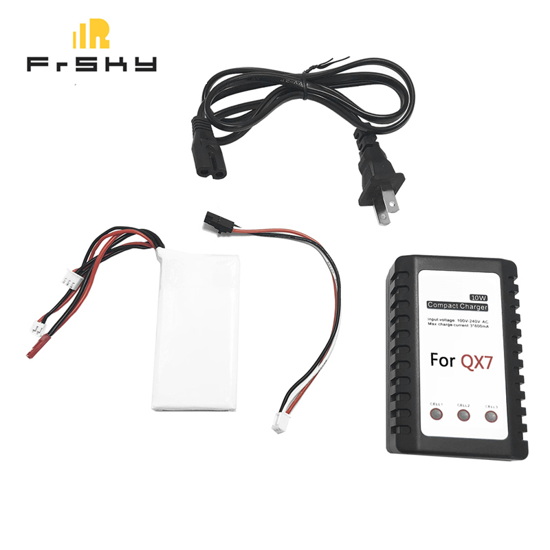 Battery Charger Upgrade Kit with 7.4V 2000mAh Lipo Battery for FrSky ACCST Taranis Q X7 Radio Transmitter RC Drone