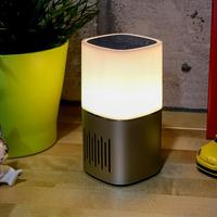 New Colorful LED Night Light Ambient Light Mini Wireless Bedside Lamp With Bluetooth Speaker Dimmable Warm White Table Lamp