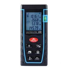 40m 60m 80m el dijital lazer mesafe ölçer telemetre lazer mesafe bulucu alan hacim ölçümü