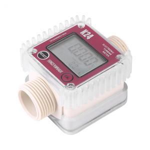Image 2 - K24 Fuel Flow Meter Digital Diesel Oil Fuel Meter Gauge For Chemicals Liquid Water Measurment Tools Tester New 2019