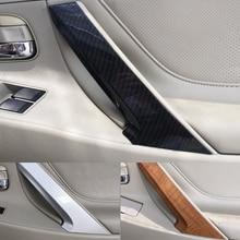 Para toyota camry 2006 2007 2008 2009 2010 2011 1pc plástico abs interior do carro maçaneta da porta puxar capa