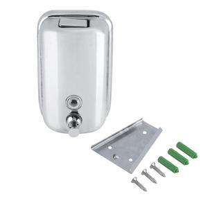 Image 5 - 800/1000ML Bathroom Wall Mounted Stainless Steel Liquid Soap Dispenser Hand Shampoo Pump Sanitizer Shower Lotion Dispenser New
