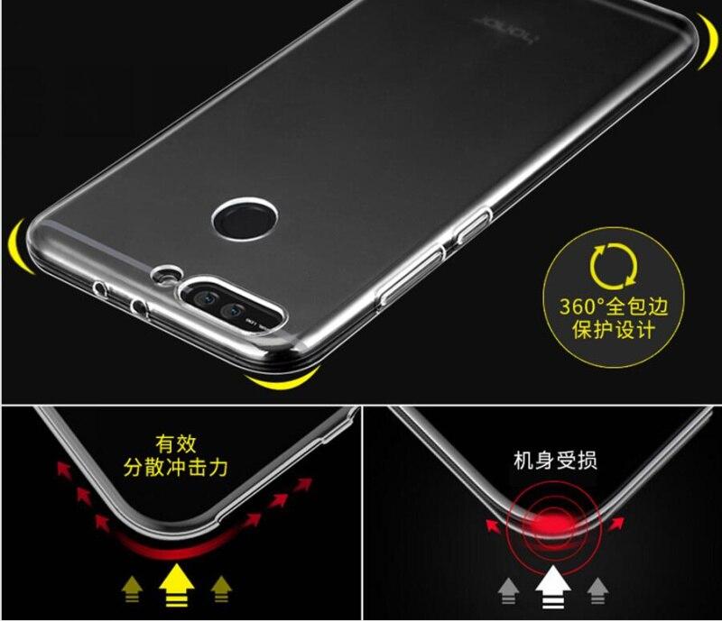 MOQ 100 unids/pack buen caso para Honor V20 V10 10 9 Lite 8X Max 8C 9i V9 Nota 10 tpu funda de silicona transparente suave - 5