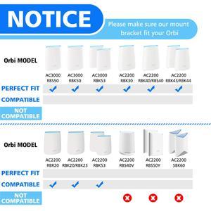 Image 2 - Soporte de pared acrílico transparente para enrutador, Netgear Orbi soporte resistente para, WiFi, para Orbi RBS40, RBK40, RBS50, RBK50, AC2200, AC3000, 3 uds.