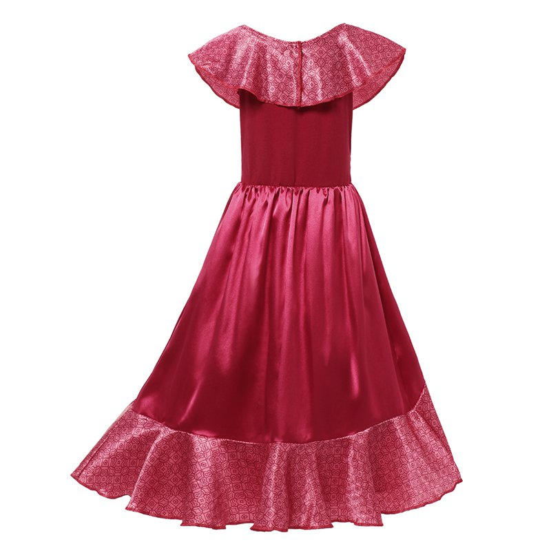 Image 2 - Girl Dress Elena Adventure Fantasy Children Clothing Summer Elena Princess Cosplay Costume Girls Ruffles Birthday Party DressDresses   -