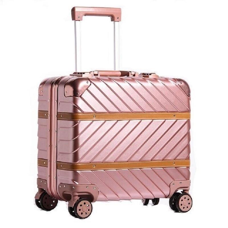 Women Envio Gratis And Travel Bag Cabina Maleta Trolley Carro Mala Viagem Aluminum Alloy Frame Suitcase Luggage 1618inch