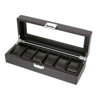 AFBC Watch Box PU Leather Watch Box Black Watch Holder Watch Box Jewelry Box Watch Box Professional Holder Organization