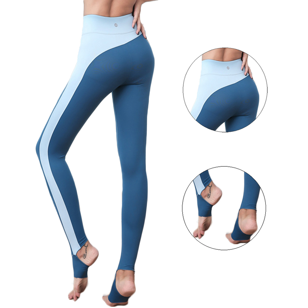 f6d54ba7a5 ... Contrast Color Splice Foot Tights Sports Pants Female Stretch  Breathable Quick drying High Rise Yoga Training Trousers on Aliexpress.com  | alibaba group