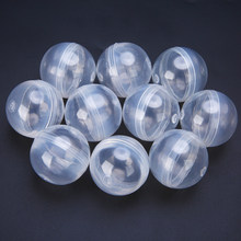 10pcs/lot 32mm Diameter Transparent Plastic Empty Ball Capsule Childrens Party Toys for Ball Vending Machine(China)