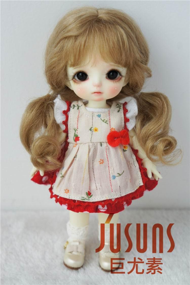 Hair-Size Doll-Accessories Bjd-Doll Soft-Wave-Doll Long Fashion Cute Wig JD426 6-7inch