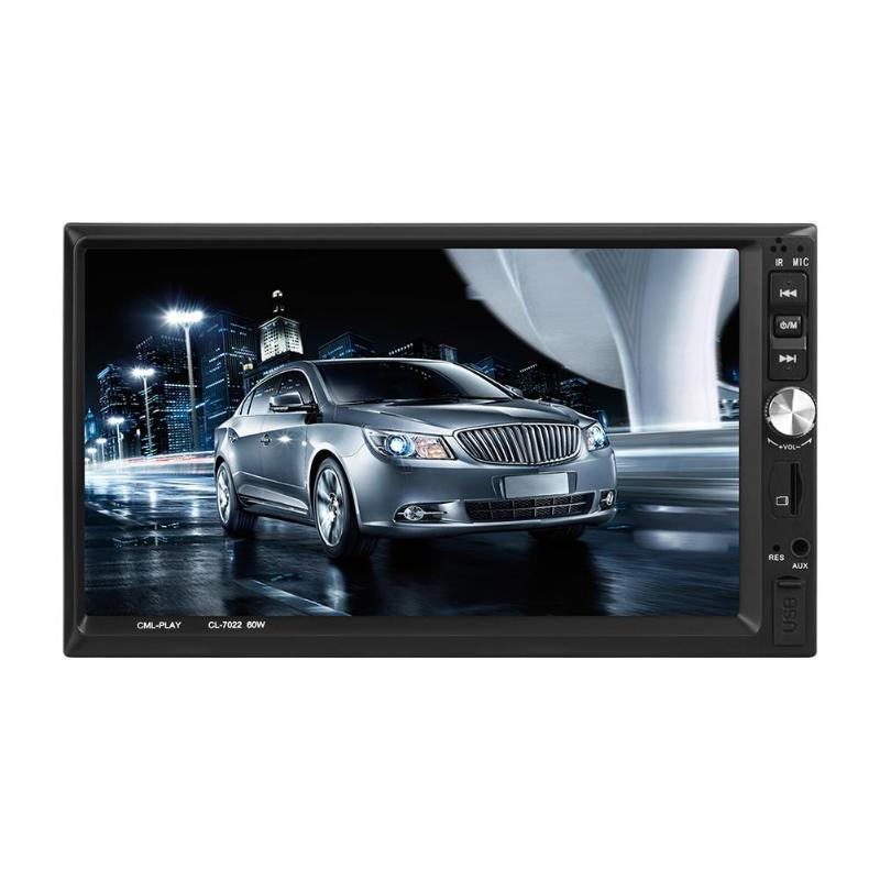 VODOOL 7022B 2Din 7 Touch Screen 1024 600 Bluetooth Car Stereo MP5 Player FM Radio Media