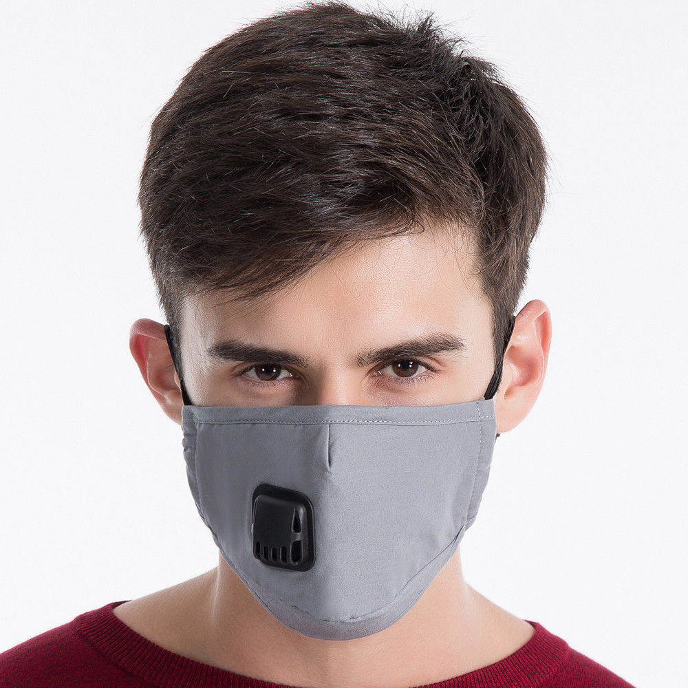 Fashion Washable Cotton Anti-dust Face Mouth Mask Breathable Filter Respirator Dustproof And Cold With Breathing Valve Mask