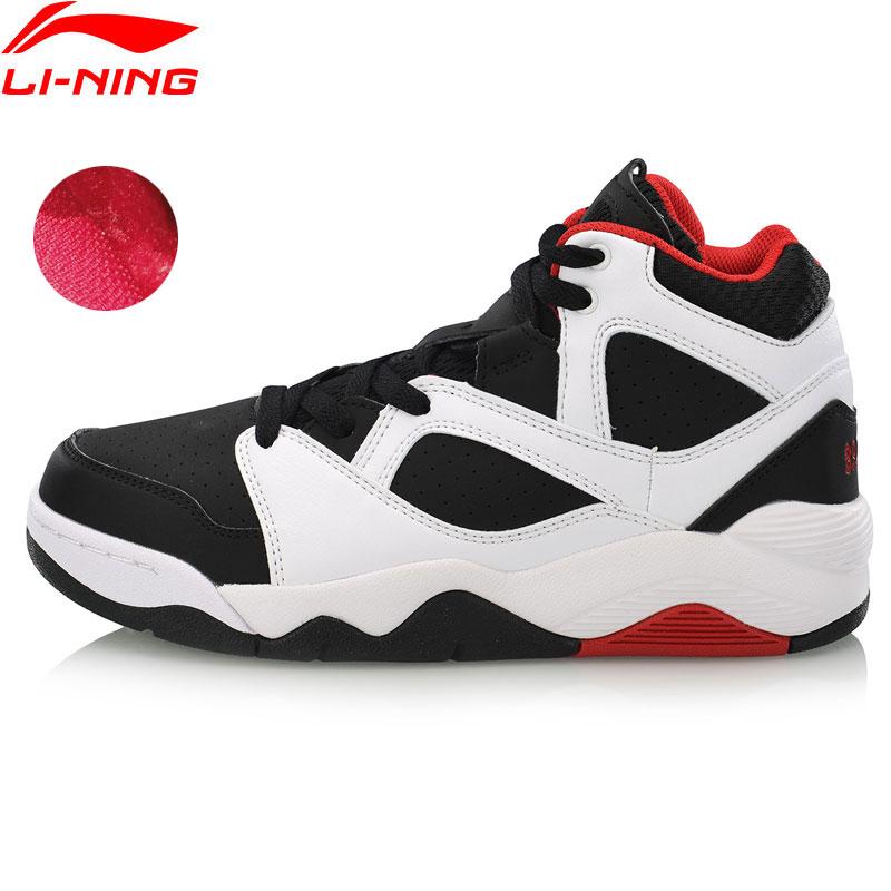 Li Ning Women BAD FIVE RETRO 90 GS Basketball Culture Shoes Warm Fleece Sneakers LiNing Sport