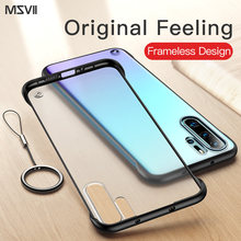 Msvii Frameloze Case Voor Huawei P30 Pro Case Transparant Coque Voor P30 Case Siliconen Voor Huawei P20 Funda P20 Pro luxe Capa(China)