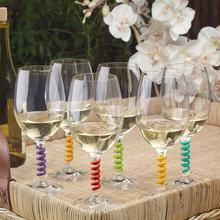18 шт., 12 шт., силиконовые вечерние маркер на стакан для вина, чашка для питья, идентификационная чашка, идентификатор, идентификация, этикетки, ярлыки