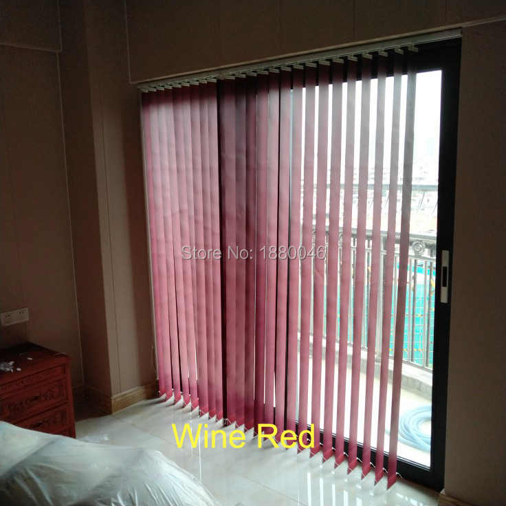 High-Grade vertical blinds Shading Blinds Wine Red color persianas verticales Decorative screen for Living room/bedroom/office