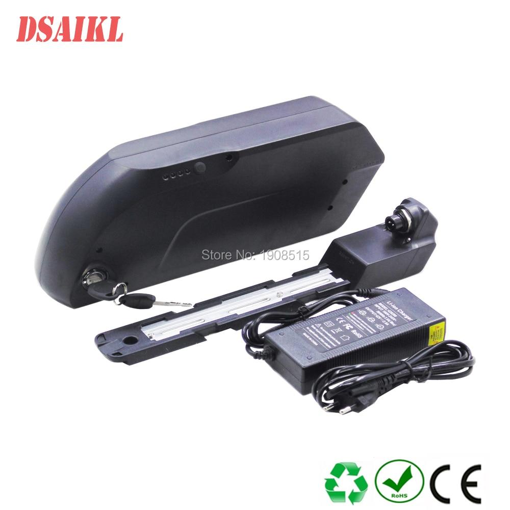 Купить с кэшбэком Electric bicycle 36V 48V 52V tiger shark battery pack 10.4Ah 11.6Ah 12Ah 13Ah 14Ah 15Ah 17Ah 19Ah 20Ah 21Ah with charger