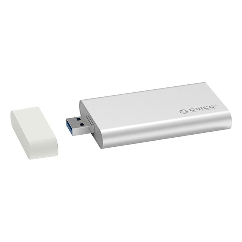 Orico Aluminum Mini Msata Ssd Enclosure Hdd Case Usb 3.0 5Gbps High-Speed Screw Fixing Hard Driver External Storage Box