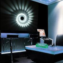 3W RGB Spiral Hole LED Wall Light Colorful Wand lamp For Par
