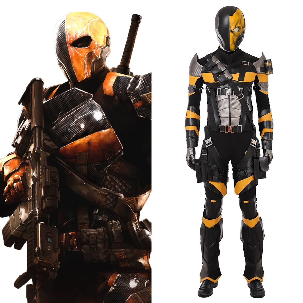 Deathstroke the Terminator Slade Wilson Cosplay Costume Halloween Outfit