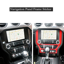 цена на 1Pc ABS Car Console Dashboard GPS Navigation Frame Panel Cover Sticker Trim Styling Fit For Ford Mustang 2015-2018 Accessories