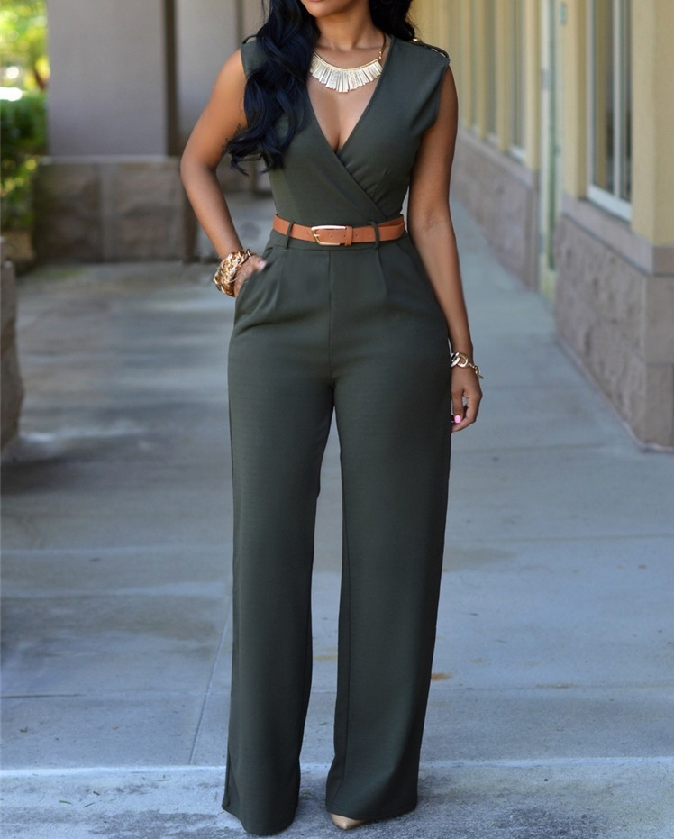 New Women Jumpsuit Lady Sleeveless Romper Streetwear Outfit Clothes Party Playsuit