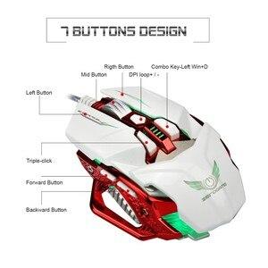 Image 2 - Mouse Da Gioco professionale HA CONDOTTO LA Luce USB Wired Mouse Da Gioco 8 Button 4000 DPI Regolabile Per PC Del Computer Portatile Gamer E  sport
