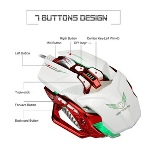 Image 2 - Professional Gaming Mouse LED Light USB Wired Gaming Mice 8 Button 4000DPI Adjustable For PC Laptop Gamer E sports