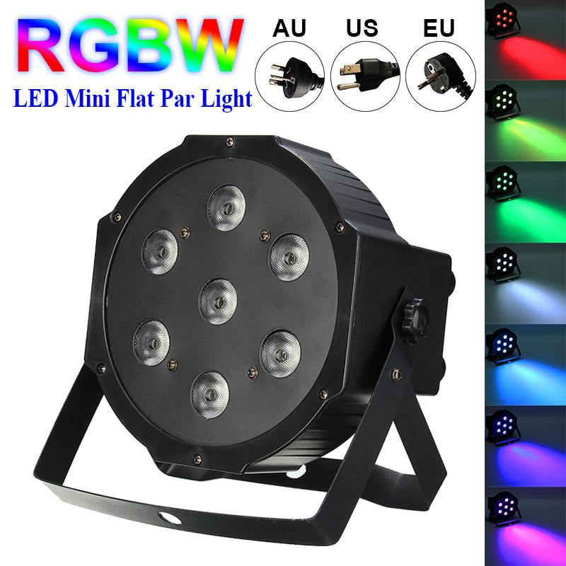 Professional Lighting 84W 7 LED Stage Lighting Effect Light Flat Decor Lamp Bar Club KTV Disco Party Stage Light AC100V 240V