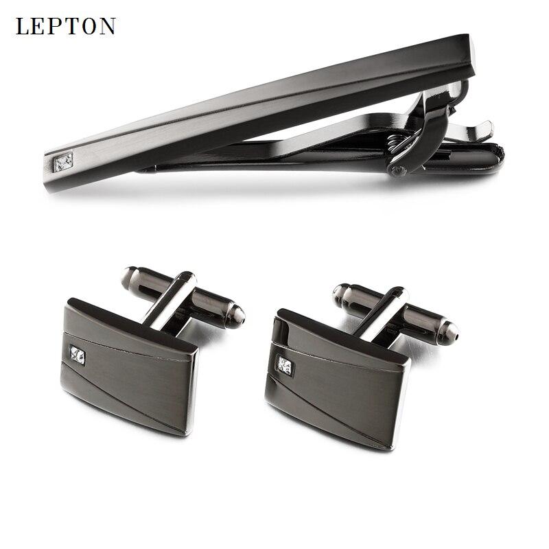 Купить lepton классические черные запонки и искусственные для мужчин