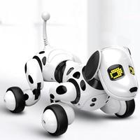 Dimei Birthday Gift Rc Zoomer Dog 2.4g Wireless Remote Control Smart Dog Electronic Pet Educational Children's Toy Robot Toys