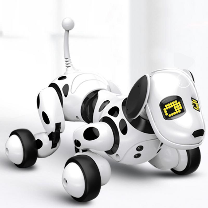 Dimei cadeau d'anniversaire Rc Zoomer chien 2.4g télécommande sans fil chien intelligent électronique Pet éducatif enfants jouet Robot jouets