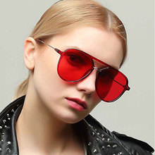 цена Sunglasses Women UV400 Driving Glasses Oval Metal Frame Brand Designer Colorful Lens Eyewear Accessories Unisex Sunglasses