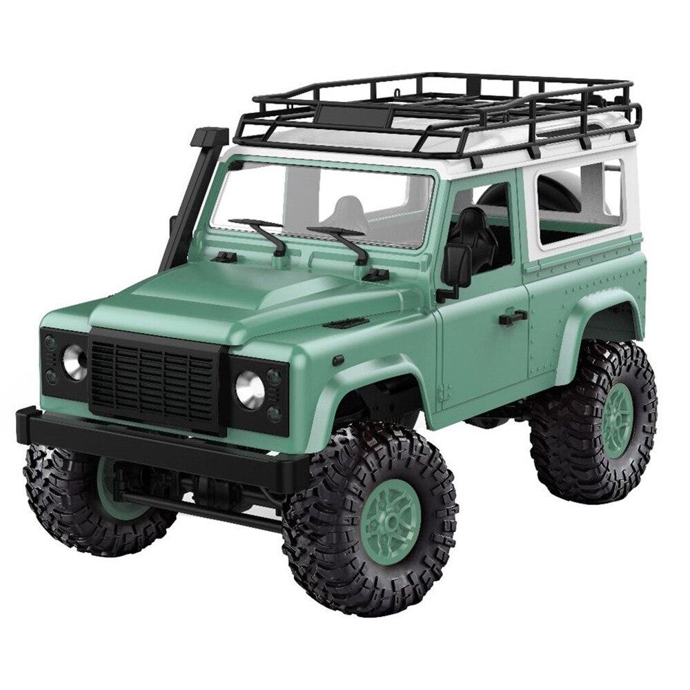 2,4 г 4WD 15 км/ч/ч RC автомобиль 2 средства ухода за кожей в виде ракушки с светодио дный спереди свет Рок Гусеничный Monster Truck RTR MN-90 игрушка Рождест...