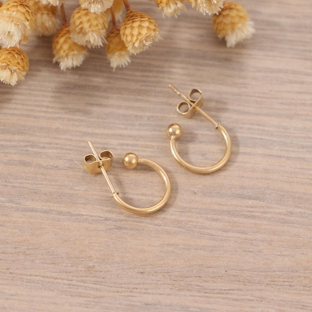 Badu Tiny Stud Earring Golden Zinc Alloy DIY Small Earrings Cute Jewlery for Girls Wholesale in Stud Earrings from Jewelry Accessories
